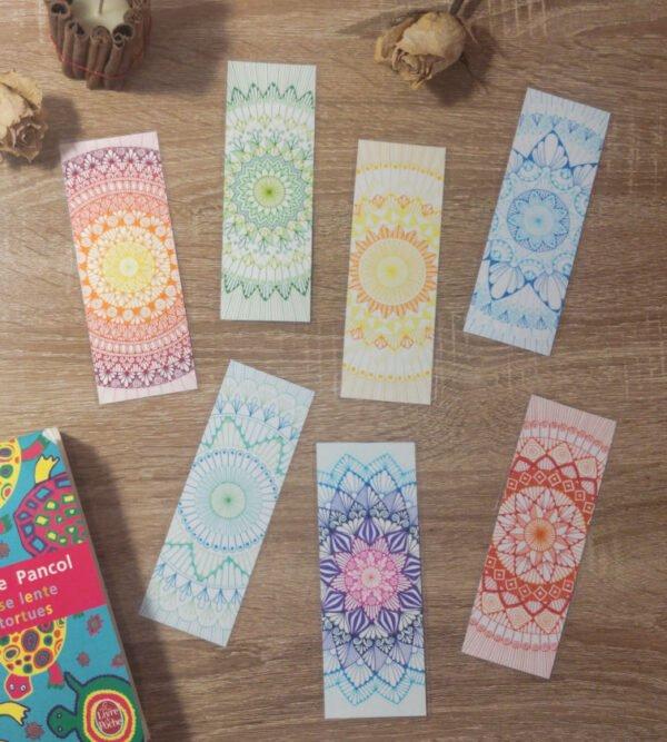 Marque-pages mandala colorés