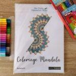 Pochette 1 contenant 10 dessins Mandala/Zentangle à colorier