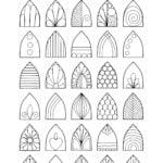 Fiche avec des idées de motifs pour dessiner un mandala