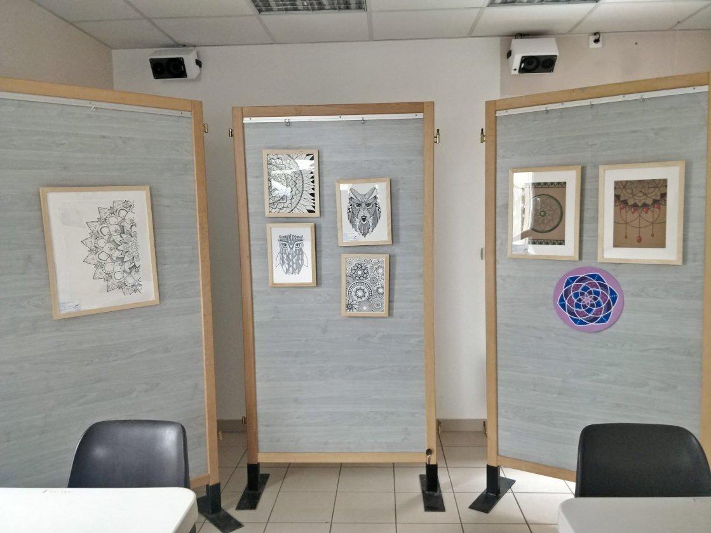 Exposition à la médiathèque municipale de Polliat