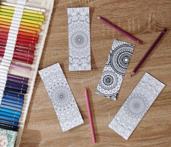Marque-pages mandala à colorier