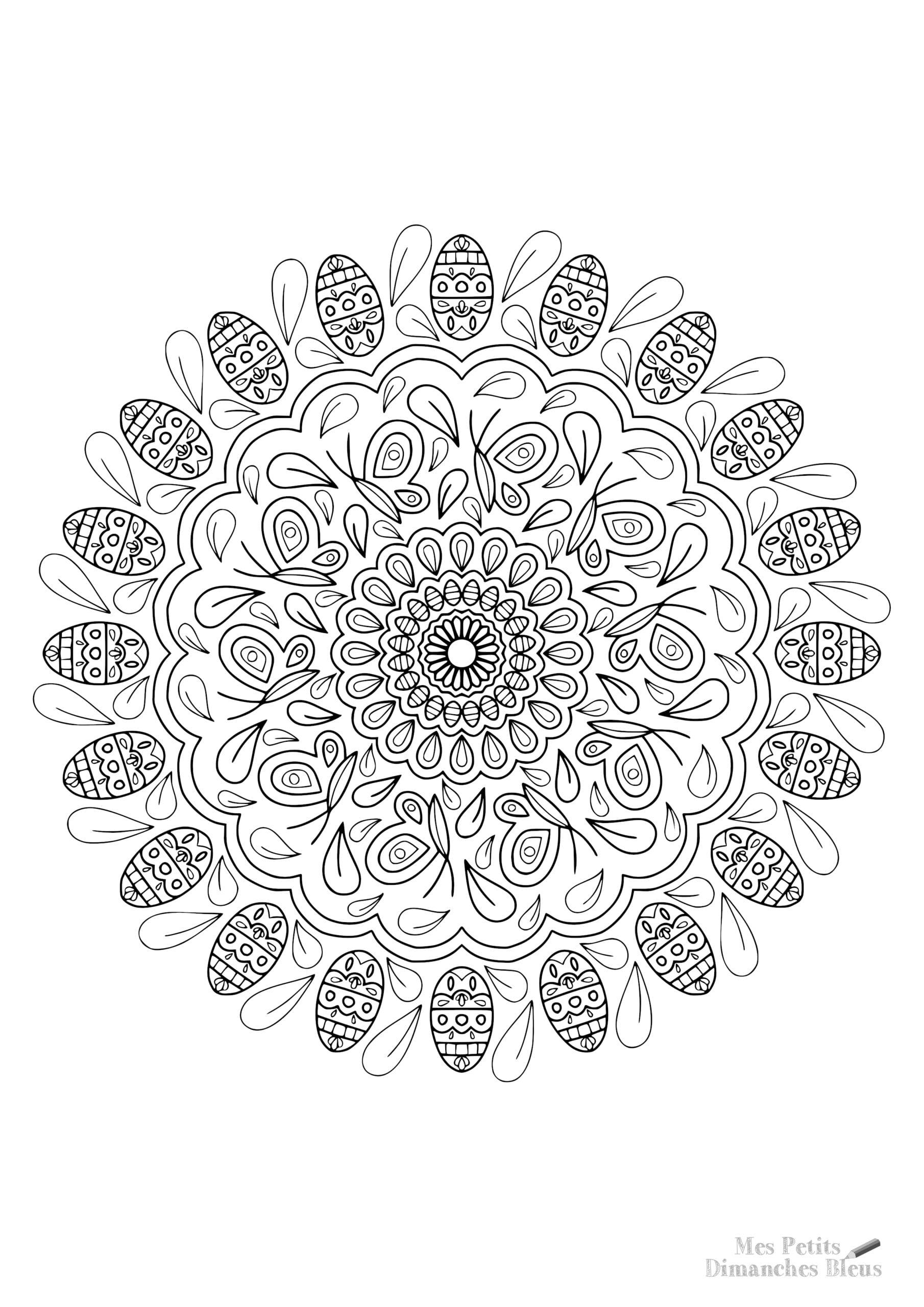 Mandala, coloriage offert à télécharger
