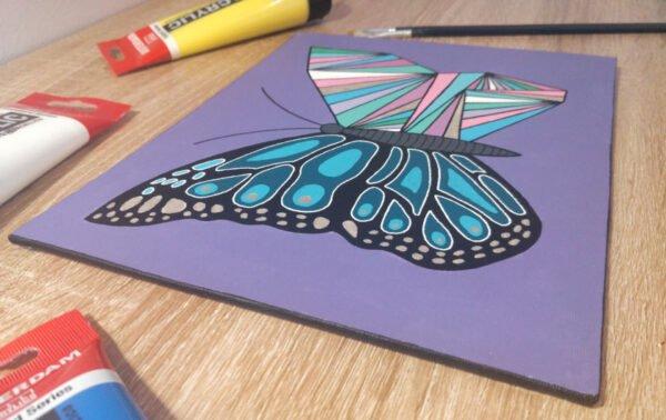 Peinture acrylique, papillon