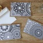 Cartes postales mandala à colorier