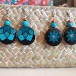 Boucles d'oreilles mandala peintes à la main