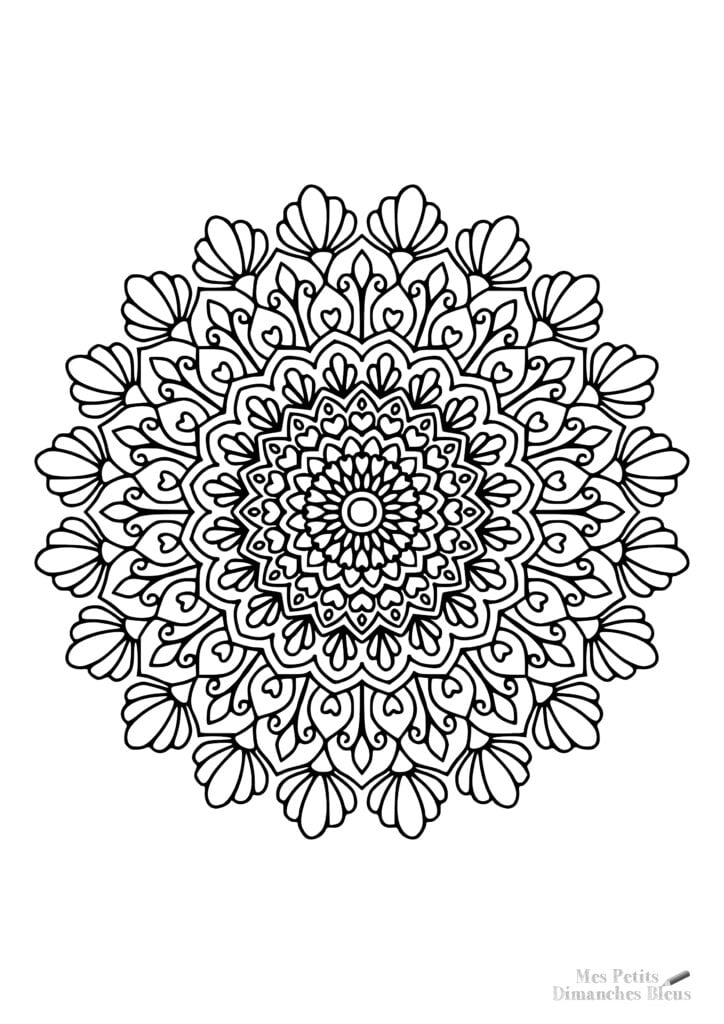 Mandala gratuit à télécharger